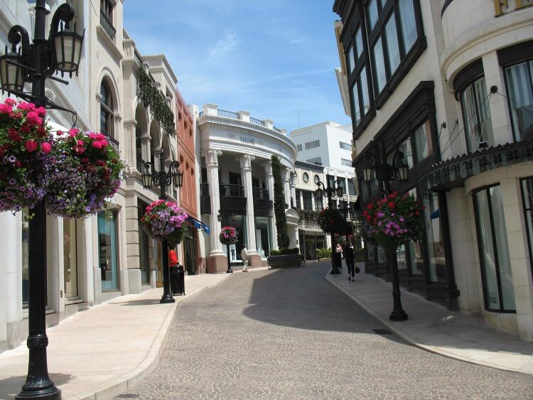 O glamour de Beverly Hills na Rodeo Drive